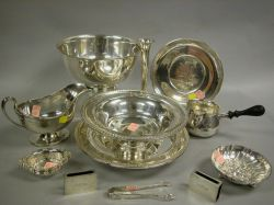 Seventeen Pieces of Sterling Silver Tableware.