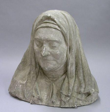 Plaster Death Mask Bust of a Nun.