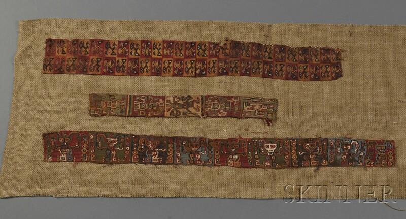 Three Pre-Columbian Textile Fragments
