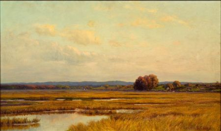 Edmund E. Case (American, 1844-1919)    Autumn Marshes
