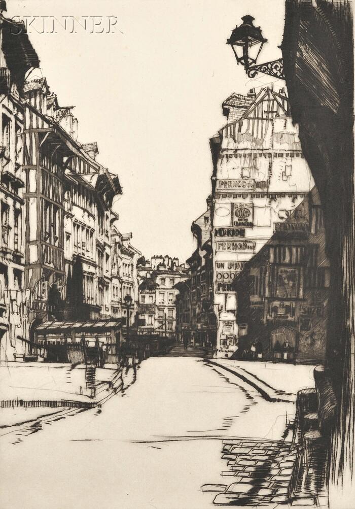 Samuel V. Chamberlain (American, 1895-1975)      Lot of Three Different States of Slums of Rouen