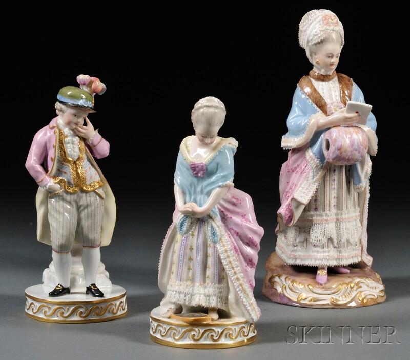 Three Meissen Figures