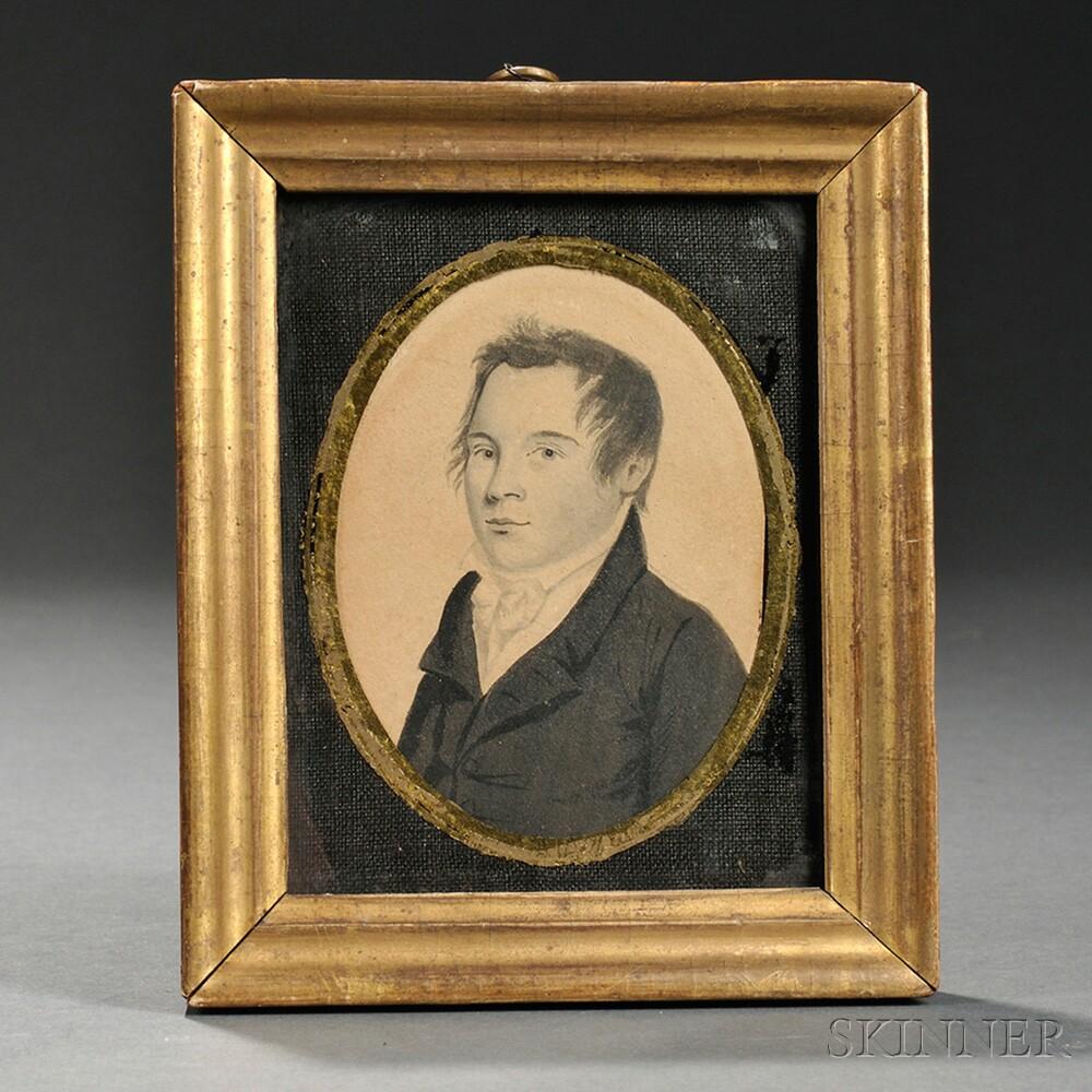 Nathan Negus (American, 1801-1825)      Portrait of Stephen Thayer.