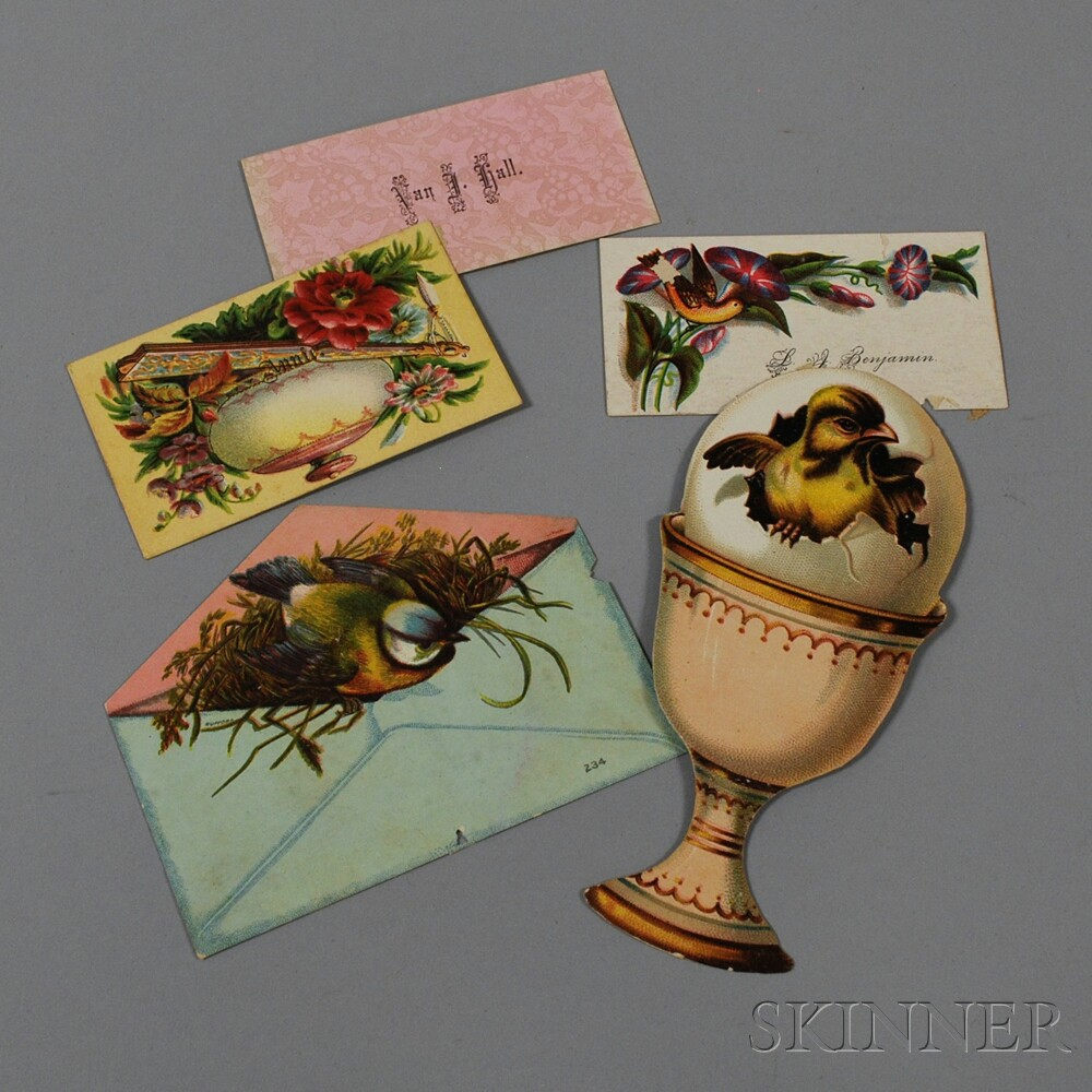 Small Album of Mostly Victorian Calling Cards