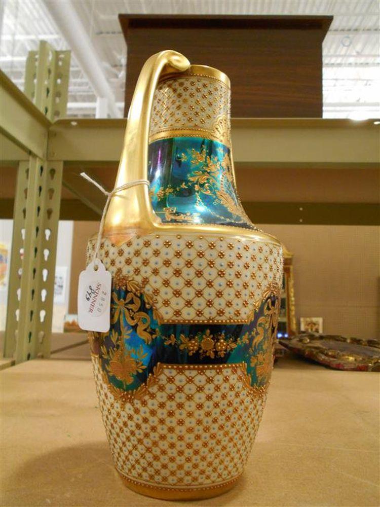 German Two-handled Porcelain Vase