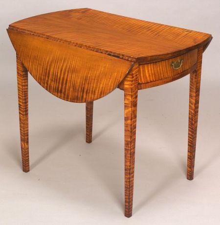 Federal Tiger Maple Pembroke Table