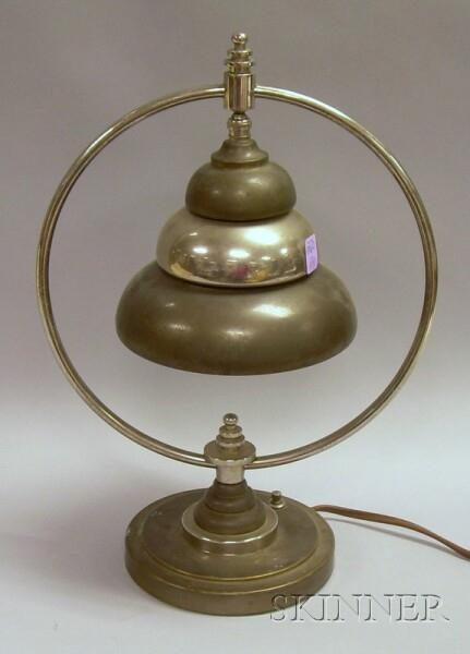 Art Deco Teague-style Desk Lamp.