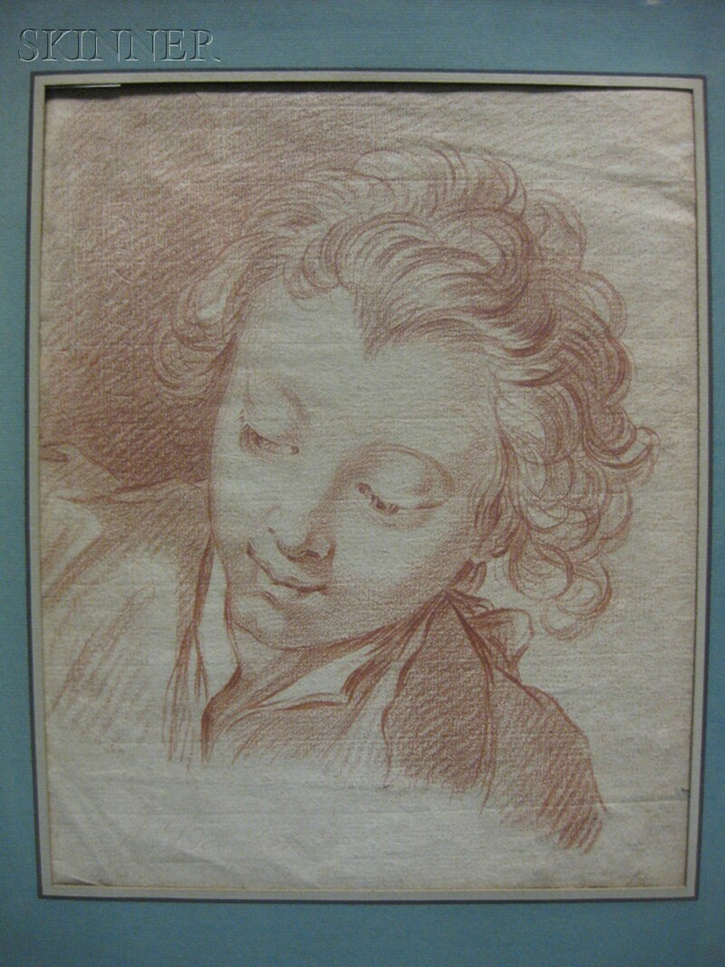 School of François Boucher (French, 1703-1770)      Head of a Young Man