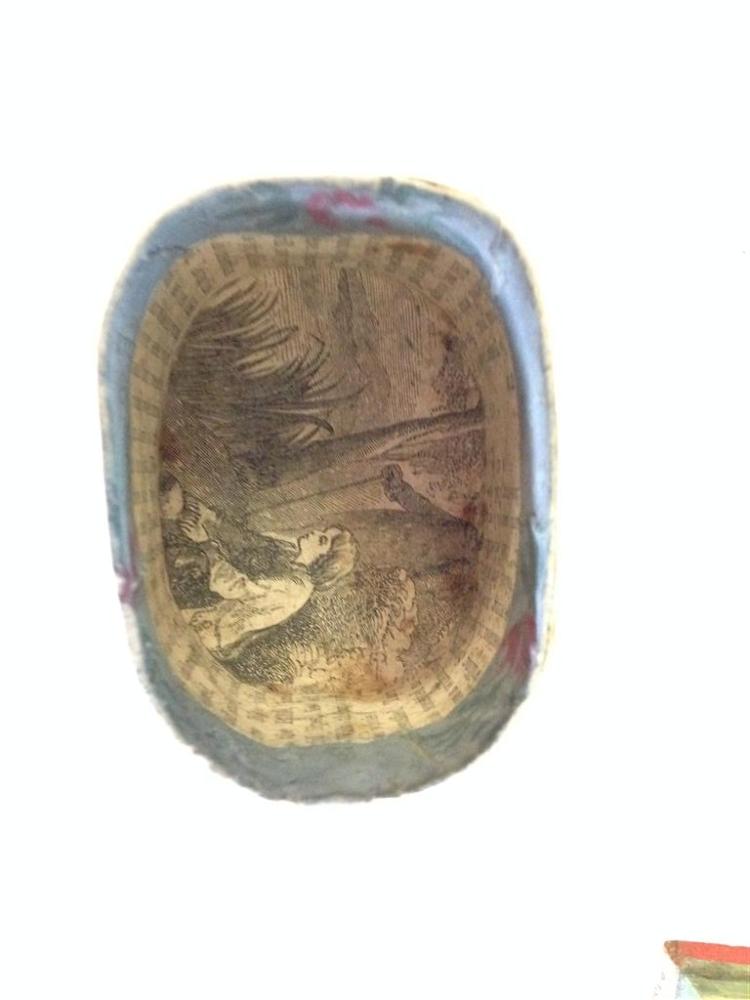 Miniature Wallpaper-covered Band Box