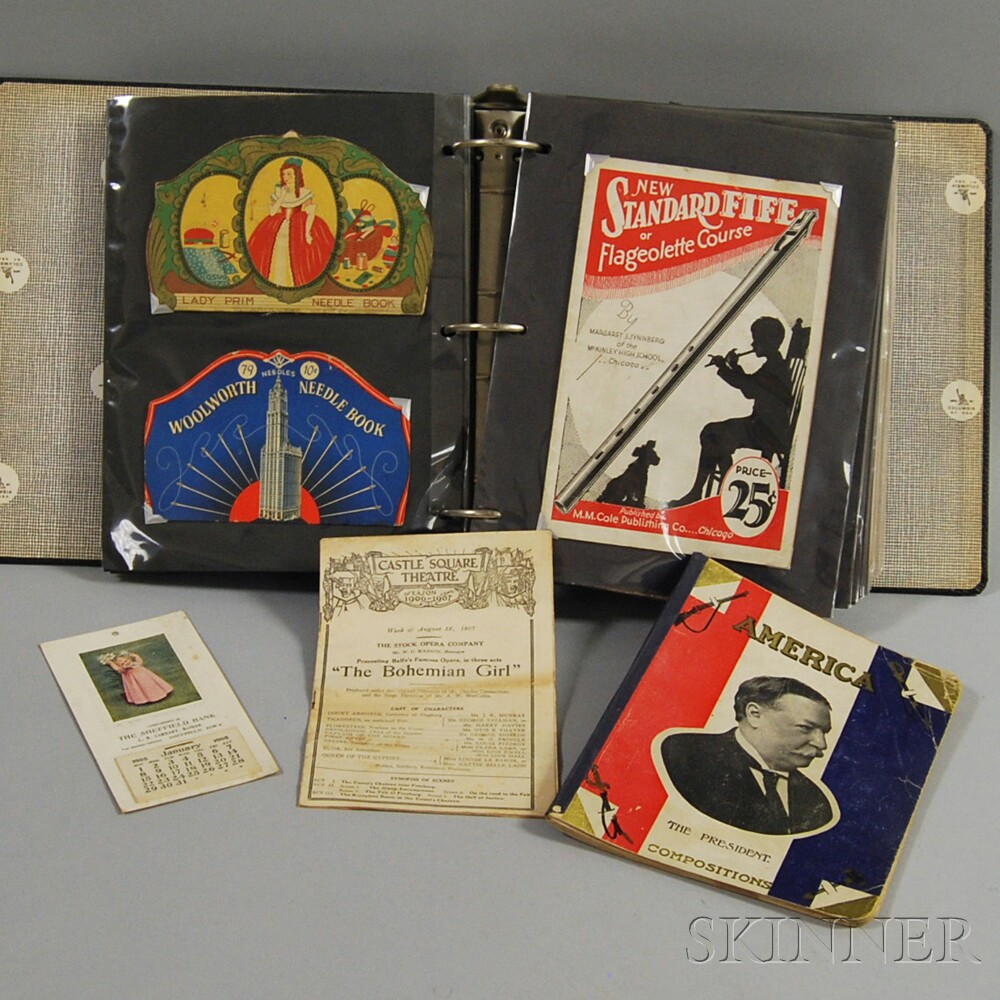 Collection of Sewing-related and Miscellaneous Ephemera