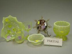Twenty-three Pieces of Assorted Pressed Pattern Glass.
