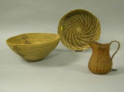 Three Native American Baskets.