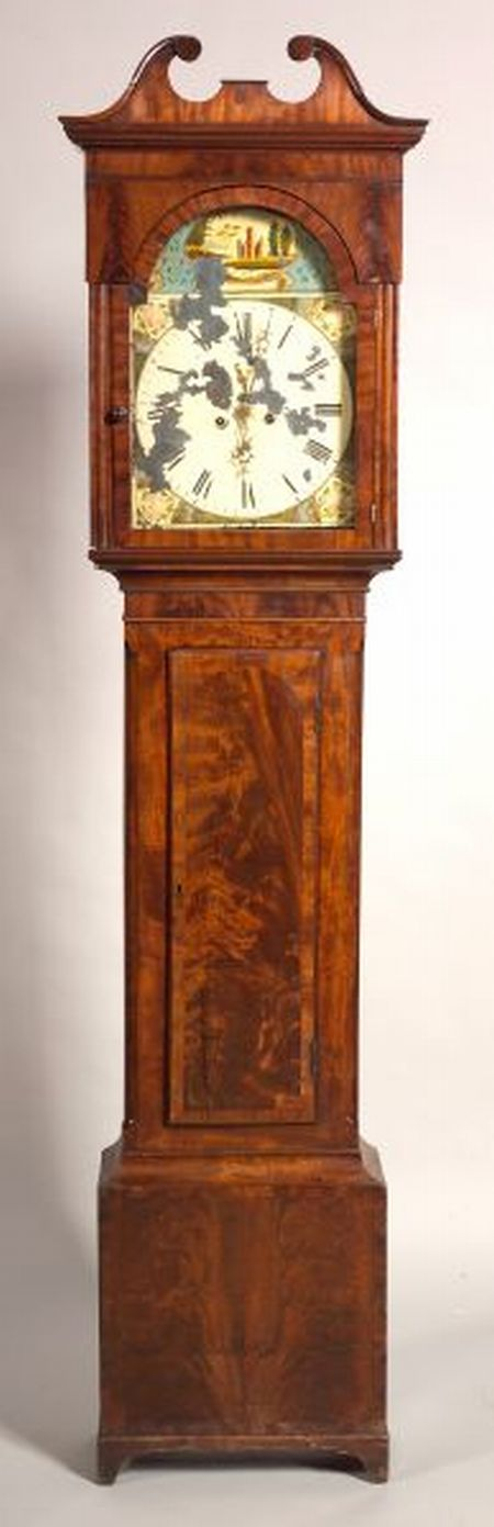 Late George III Mahogany Tall Case Clock