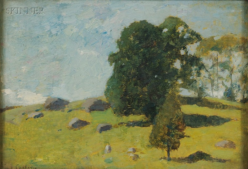 Emil Carlsen (American, 1848-1932)      Spring Landscape