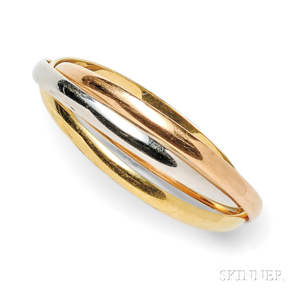 "18kt Tricolor Gold ""Trinity"" Bracelet, Cartier"