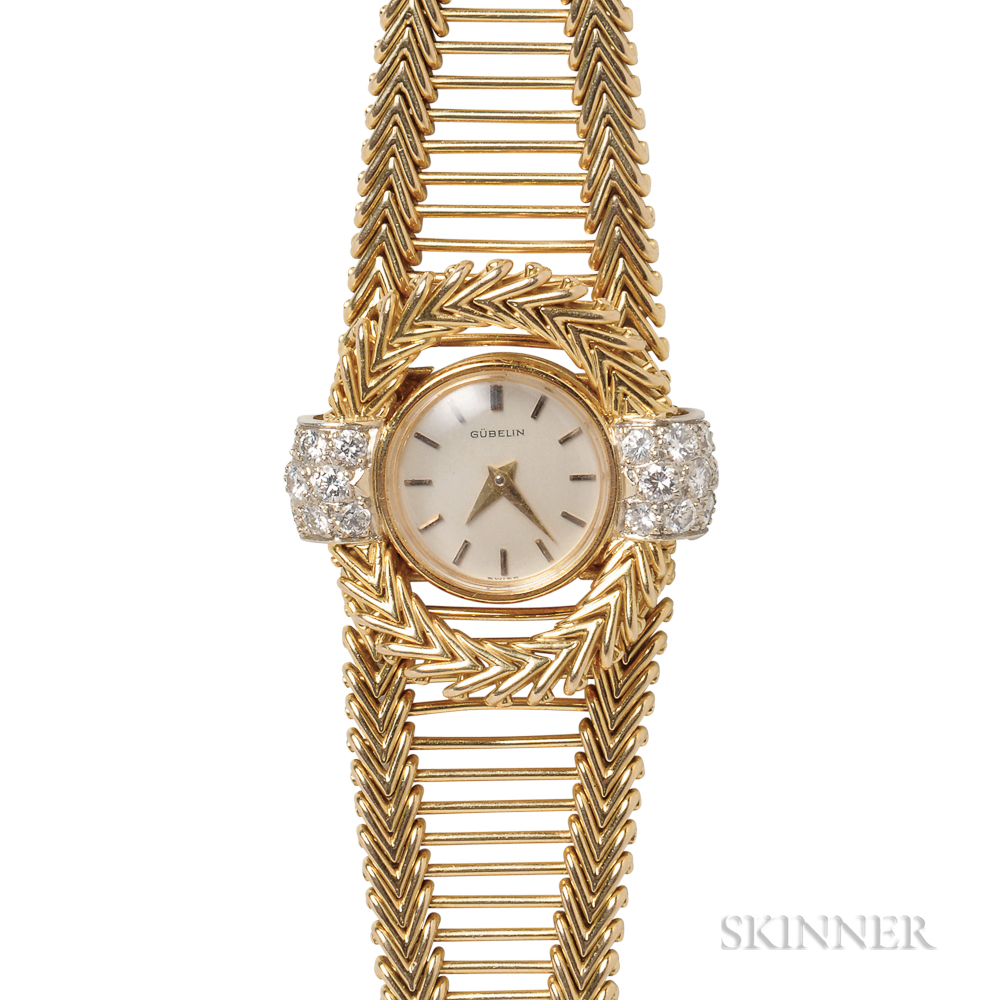 Lady's 18kt Gold and Diamond Wristwatch, Gubelin