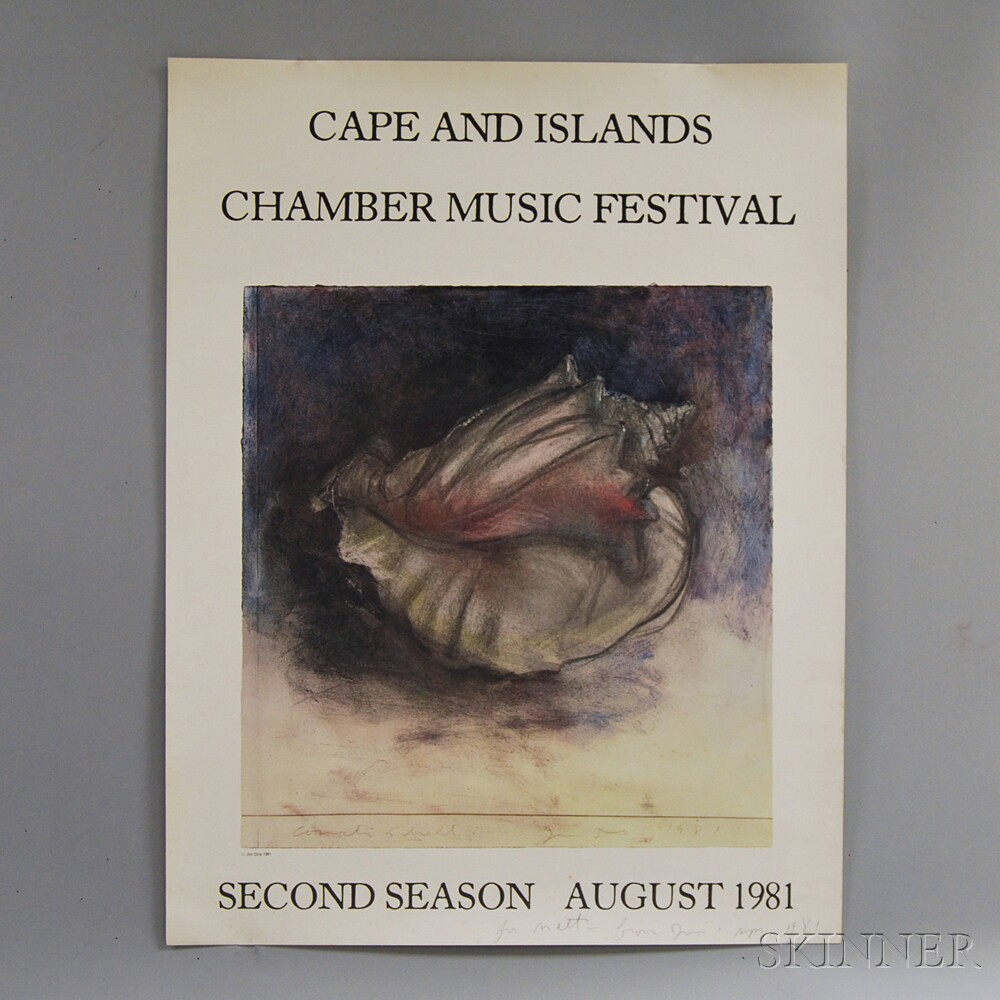 After Jim Dine (American, b. 1935)      Cape and Islands Chamber Music Festival, Second Season, August 1981