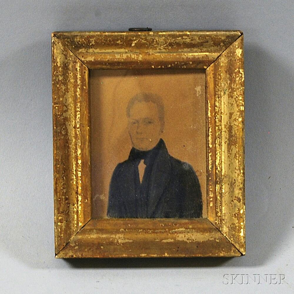 Framed Portrait Miniature of John Clark