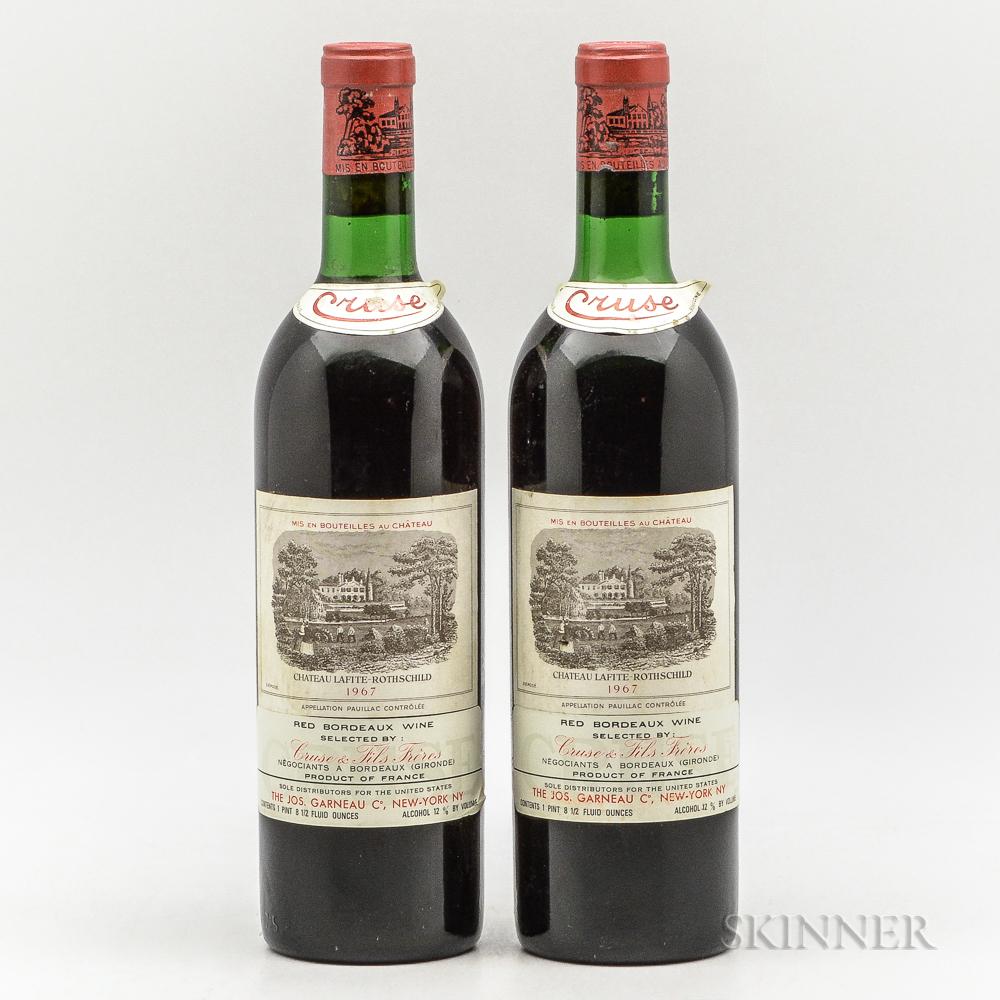 Chateau Lafite Rothschild 1967, 2 bottles