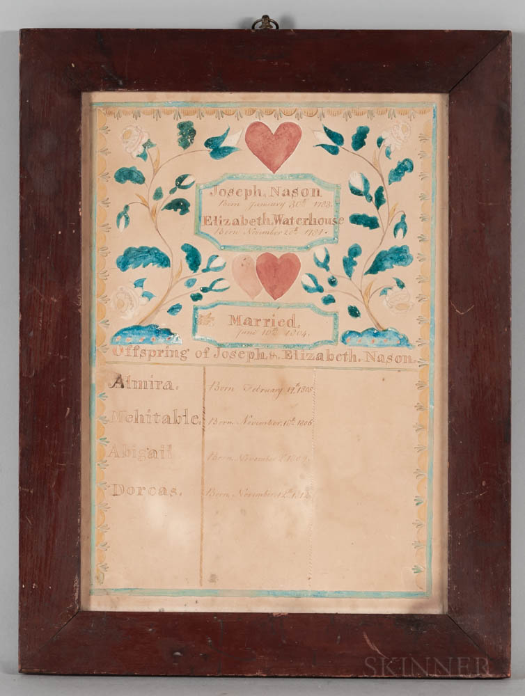 Watercolor Nason Family Record