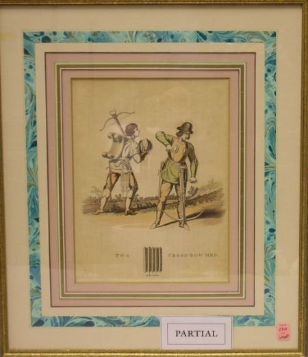 Three Framed Decorative Prints of Soldiers and Knights