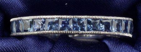 Platinum and Sapphire Band