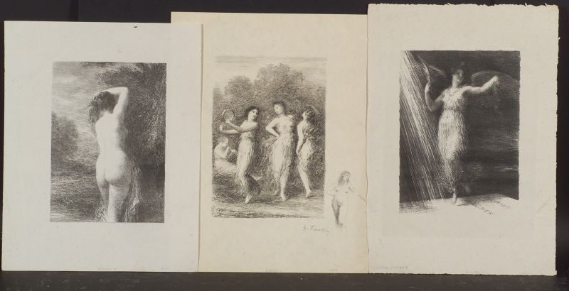Henri Fantin-Latour (French, 1836-1904)      Lot of Three Images:  Reveil
