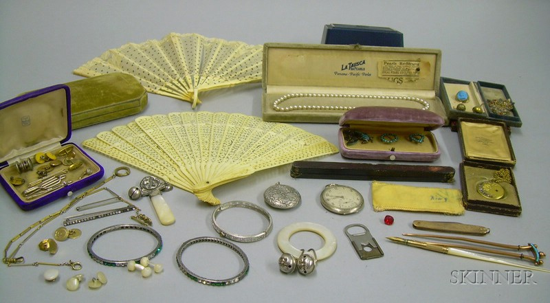 Assorted Estate and Antique Costume Jewelry and Accessories