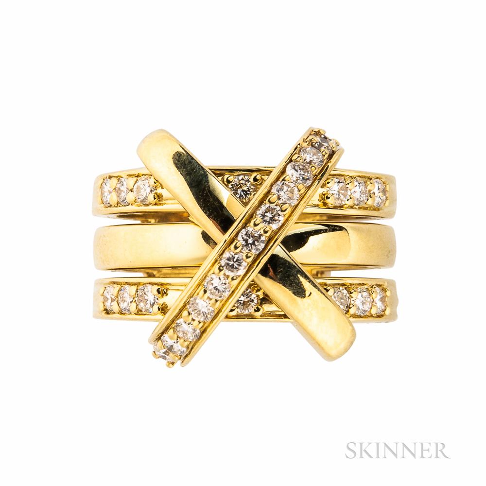 Jose Hess 18kt Gold and Diamond Ring