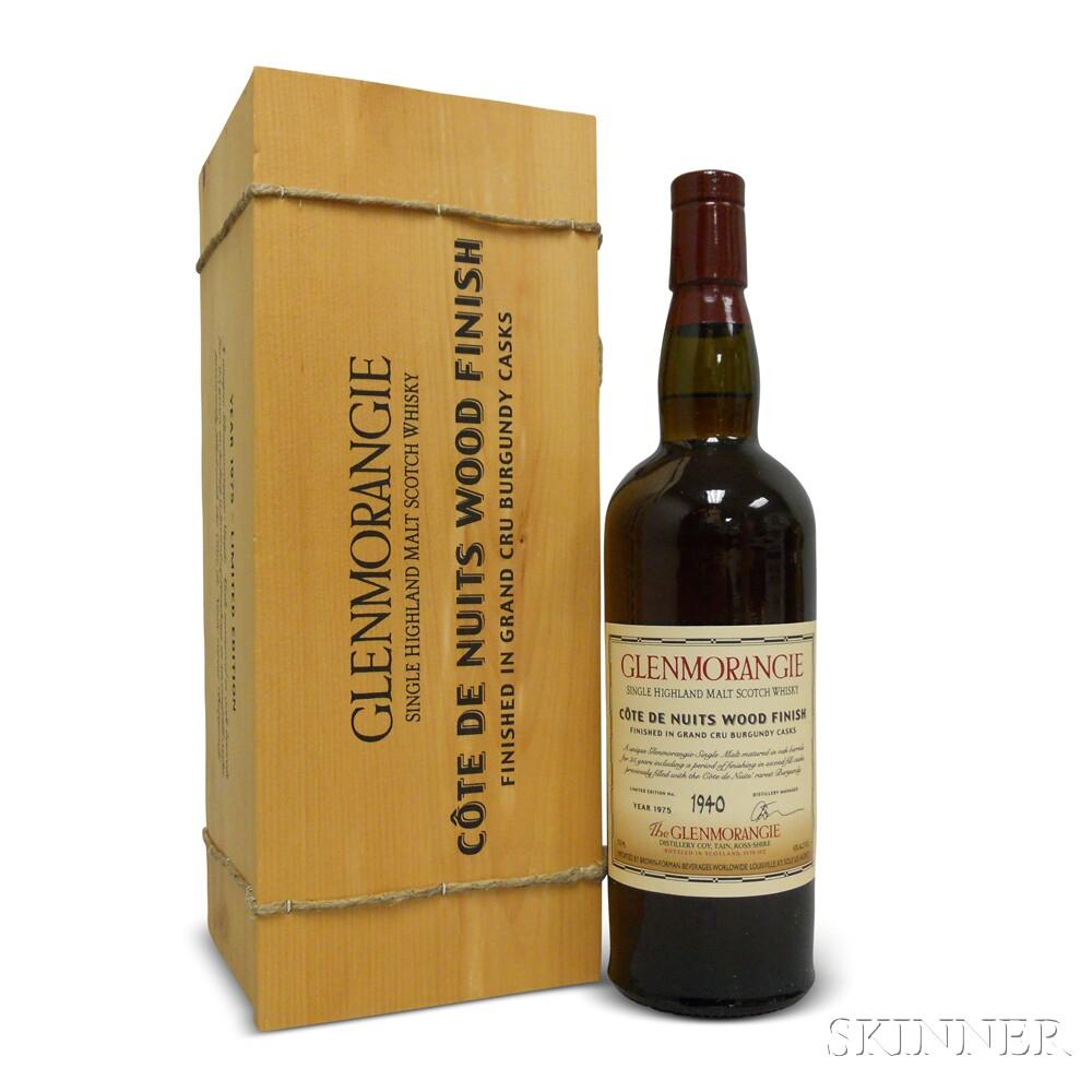 Glenmorangie Cote de Nuits Finish 25 Years Old 1975, 1 750ml bottle (owc)