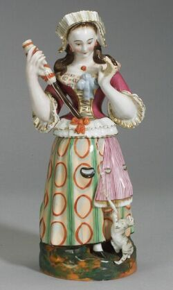 Large Porcelain Figural Trinket Box