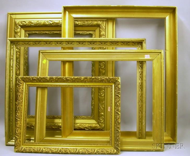 Five Assorted Giltwood Frames