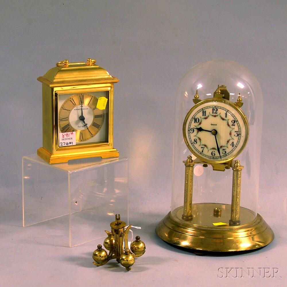 Two Brass Shelf Clocks