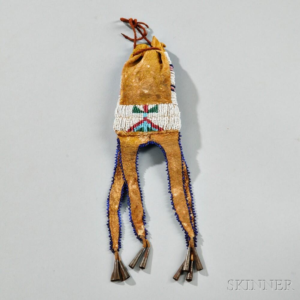 Cheyenne Beaded Hide Paint Bag