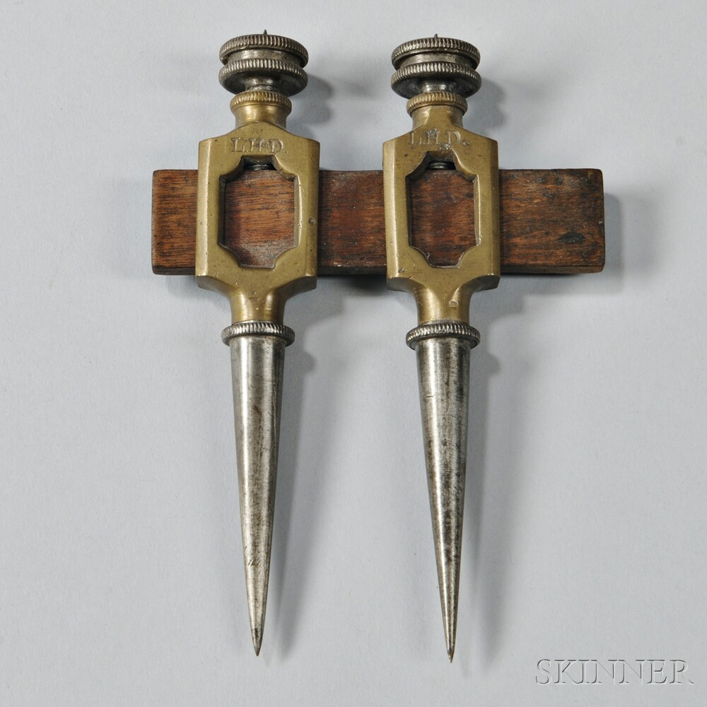 Brass, Steel and Wood Chart Tool