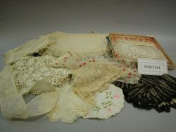 Group of Lace Collars, Doilies and Needlework Articles, Etc.