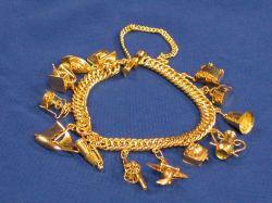 Gold Charm Bracelet.