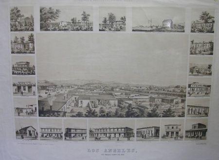 Kuchel & Dresel's California Views, Los Angeles, Los Angeles County, California,   1857, Print
