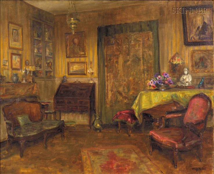 May Noble (American, 1878-1966)      Interior View, Possibly the Artist's Paris Apartment