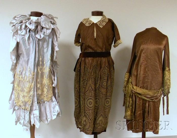 Three Vintage Lady's Silk Garments