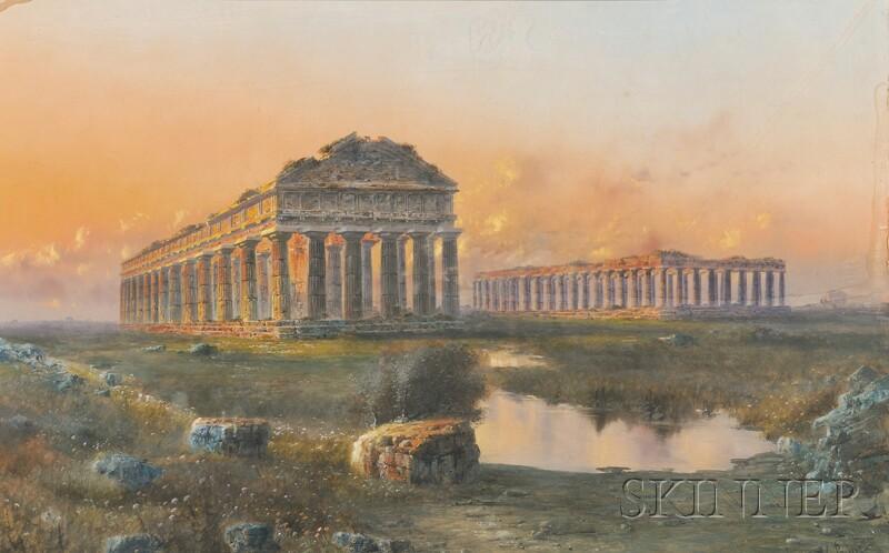 Giovanni Battista (Italian, 1860-1925)      Temples of Paestum