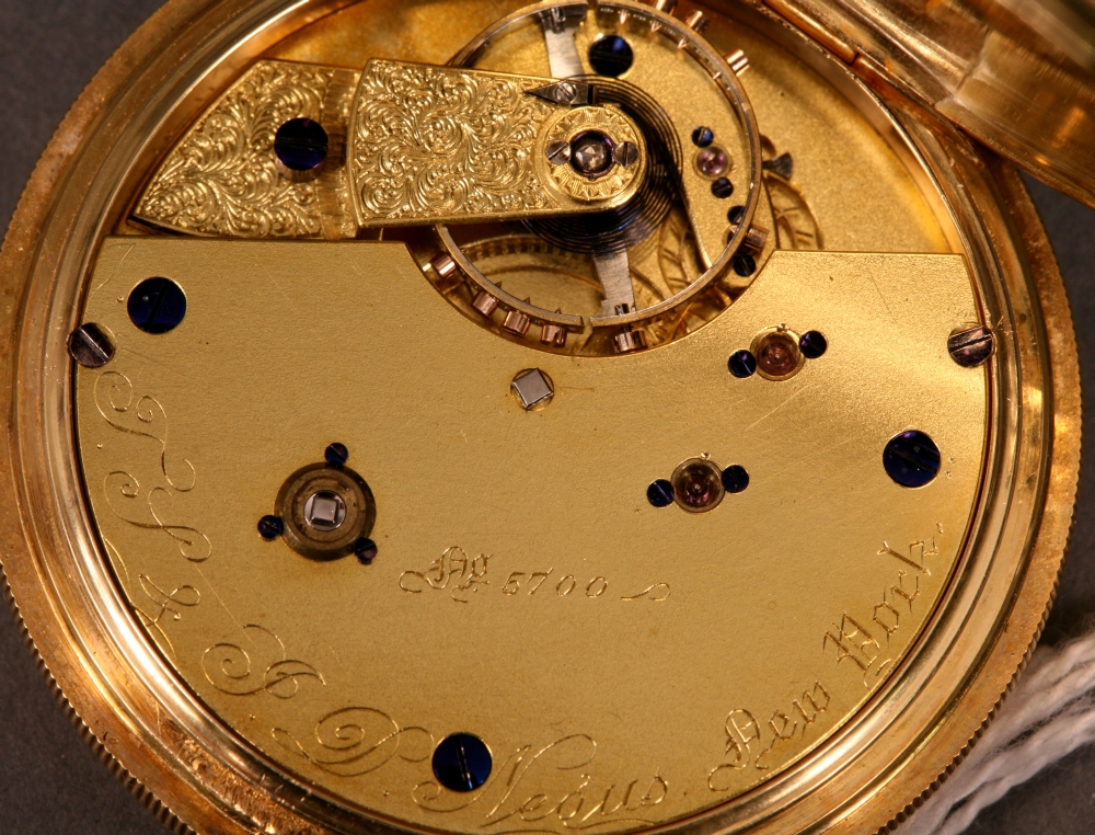 T.S. & J.D. Negus 18kt Gold Hunting Case Pocket Half Chronometer