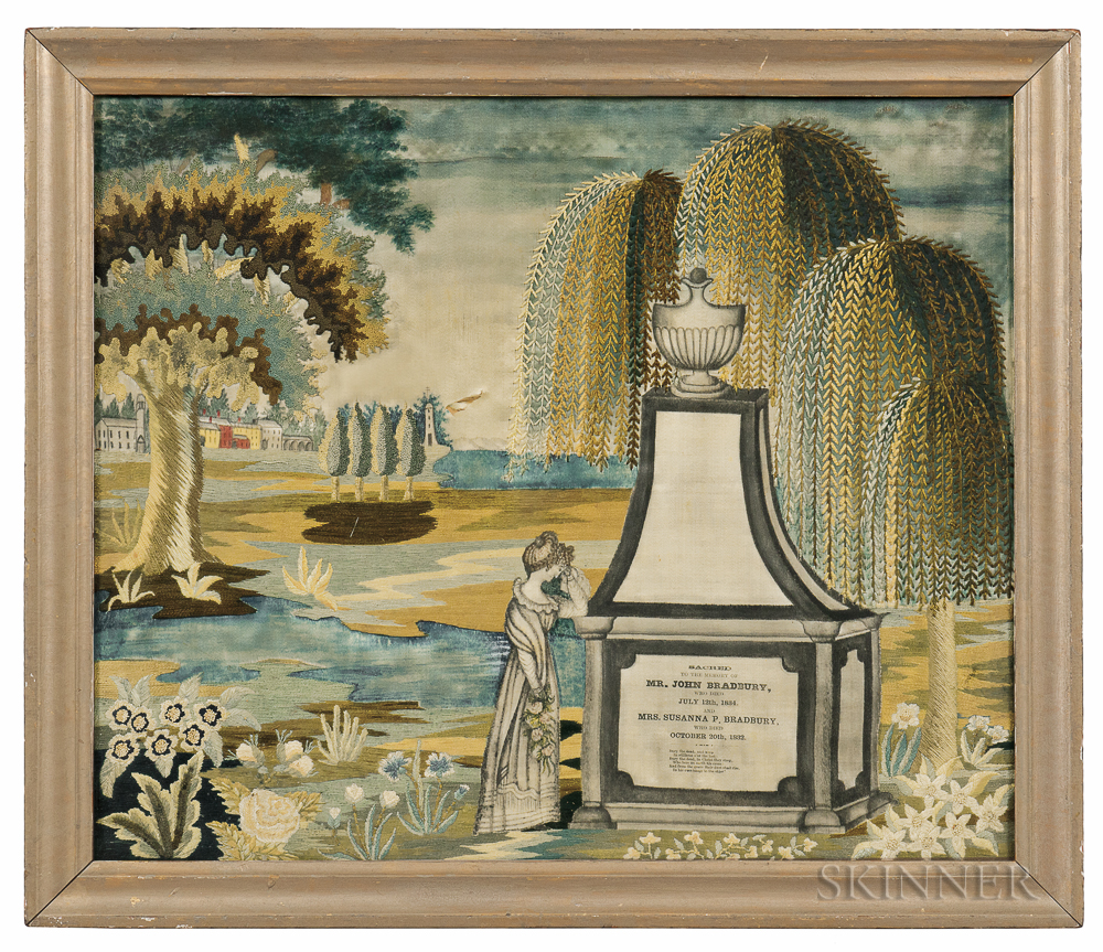 Bradbury Family Needlework Memorial Picture