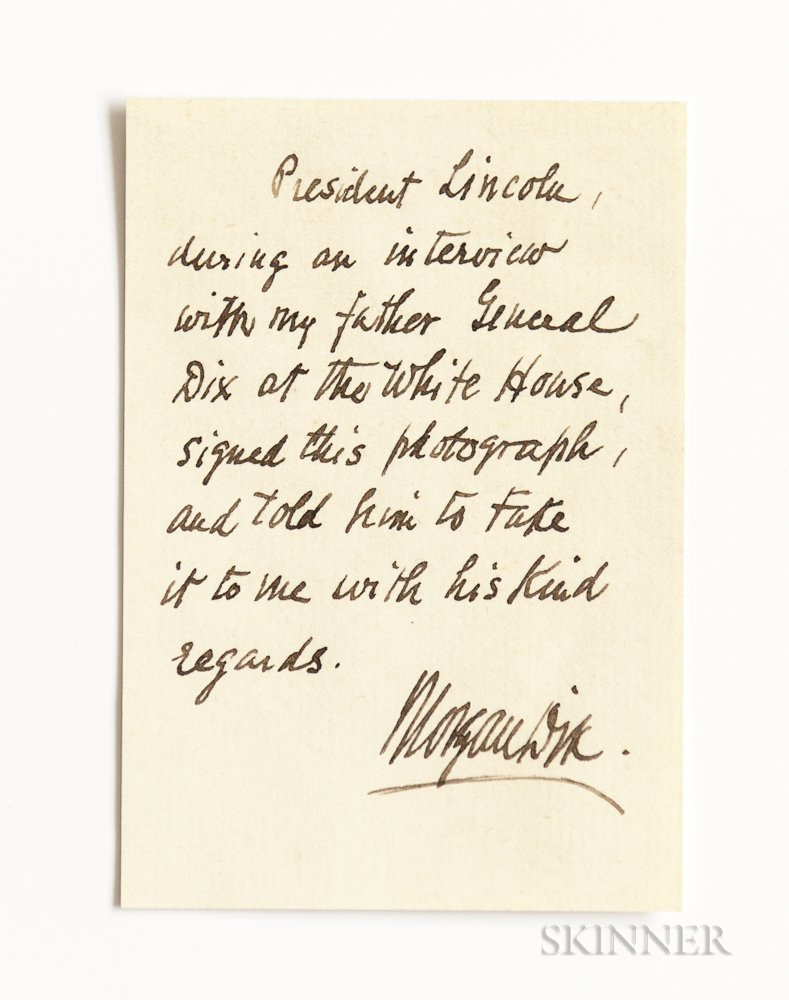Lincoln Abraham 1809 1865 Signed Carte De Visite