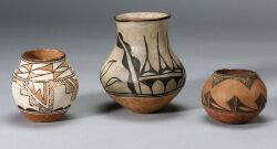 Eight Southwest Painted Pottery Vessels.