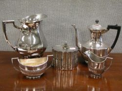 Five Pieces of Silver Plated Hollowware.