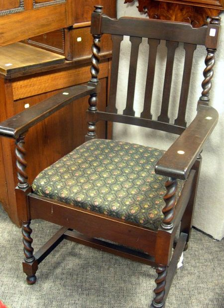 Stickley Bros. Quaint Furniture Mahogany Armchair