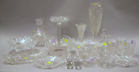 Collection of Approximately Thirty-seven Colorless Cut Glass Table Items