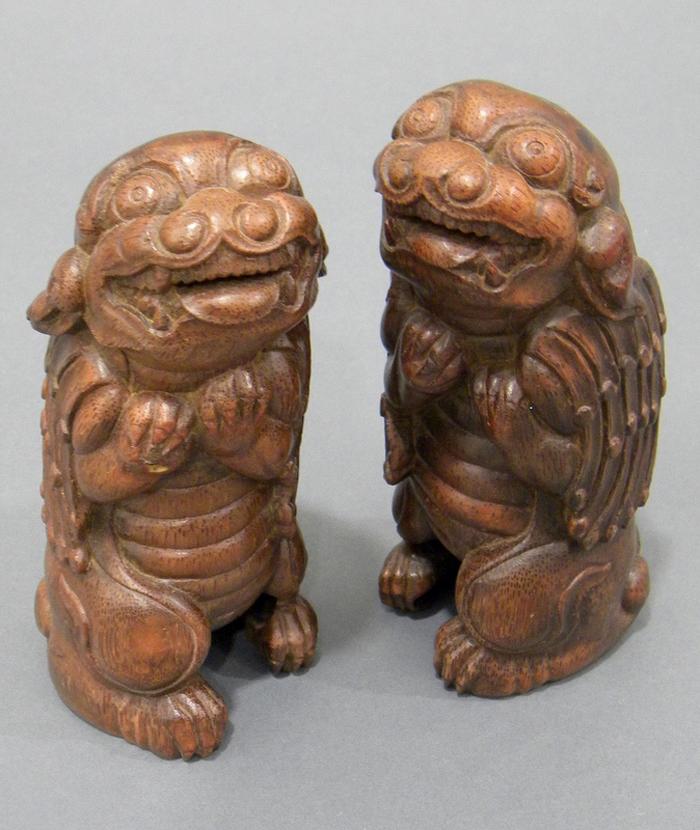 Pair of Bamboo Carvings