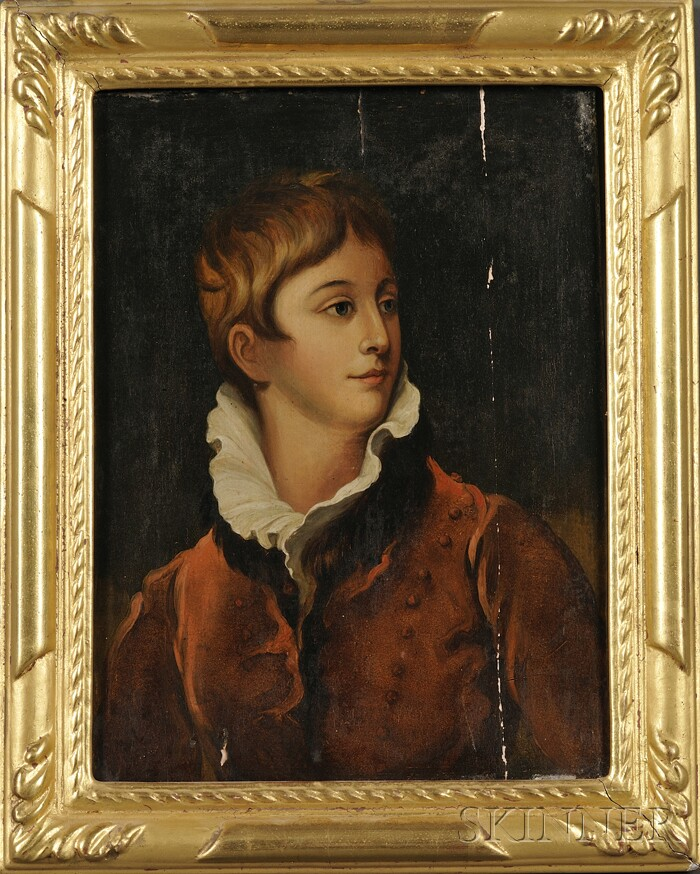 Continental School, 18th/19th Century Style      Portrait of a Young Man in a Russet Jacket